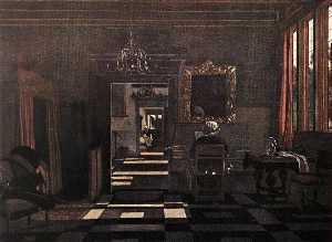 Interior with a Woman at the Virginals