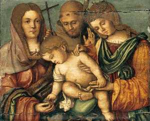 The Christ Child between Sts Catherine, Francis and Elizabeth of Hungary