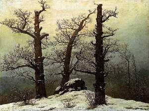 dolmen im schnee