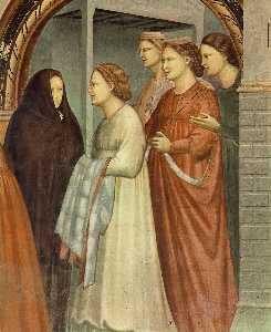 No . 6 Scene da Vita di Joachim : 6 . incontro alla porta aurea ( particolare )