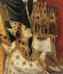Il Trittico Stefaneschi Cattedrale di St  Pietro  sul trono  particolare