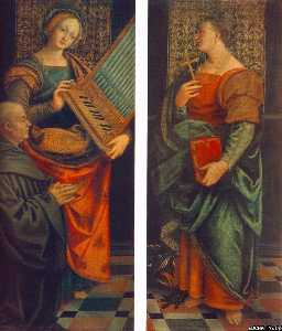 St Cecile with the Donator and St Marguerite