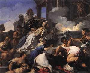 Psyche's Parents Offering Sacrifice to Apollo