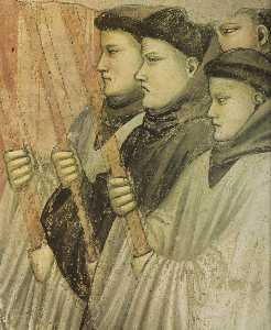 Scene da vita di san francesco : 4 . morte e ascensione di san francesco ( particolare ) ( 12 )