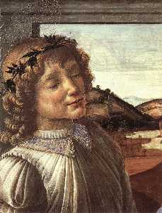 Madonna and Child with an Angel (detail)