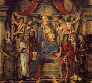 The Virgin and Child with Four Angels and Six Saints (Pala di San Barnaba)