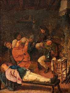 Drunken Peasant in a Tavern