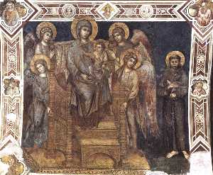 Madonna Enthroned with the Child, St Francis and Four Angels