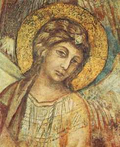 мадонна на троне с ребенка , st francis и четыре Ангелы ( подробность )