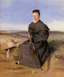Louise Harduin in Mourning (also known as Young Girl Sitting in the Country)