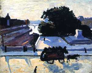 The Louvre Embankment and the Pont-Neuf in Paris