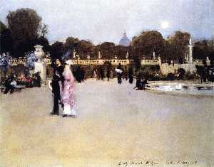 The Luxembourg Gardens at Twilight (also known as Twilight in the Luxembourg Gardens)