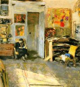 Madame Josse Hessel in Vuillard's Studio