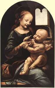 Madonna with Flower (also known as Madonna Benois)