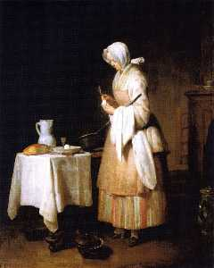 Meal for a Convalescent (also known as The Attractive Nurse)