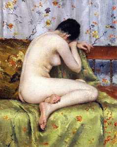 A Modern Magdalen (also known as Nude inan Interior)