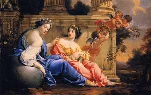 The Muses Urania and Calliope