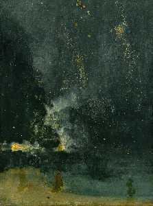 ноктюрн в черном и золотом : падающая ракета