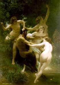 Nymphes et satyre ( también conocida como Ninfas asícomo Saytr )