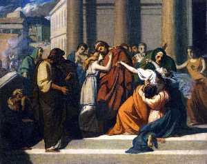 Oedipus Bids Farewell to Jocasta (study)