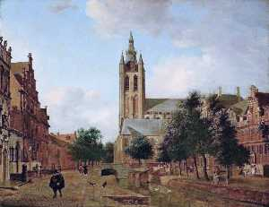 The Oude Kerk on the Oude Delft