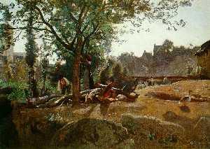 Peasants under the Trees at Dawn, Morvan