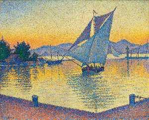 The Port at Sunset, Saint-Tropez, Opus 236