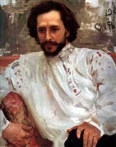 Portrait of the Author Leonid Andreev.