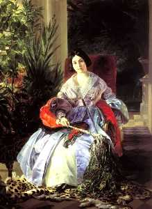 Portrait of Princess Ye. P. Saltykova