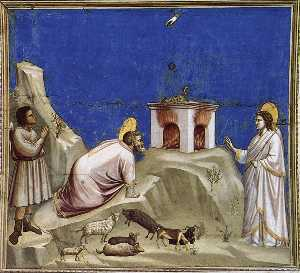 Scenes from the Life of Joachim: 4. Joachim's Sacrificial Offering (Cappella Scrovegni (Arena Chapel), Padua)