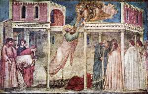 Scene da vita di san giovanni evangelista : 3 . ascensione del evangelista ( Peruzzi Cappella , Babbo Croce , Firenze )