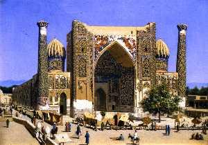 Sher-Dor Madrassah on the Registan Square in Samarkand