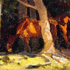 Sketch of Horses I