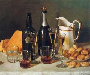 Still Life: Cognac and Biscuits