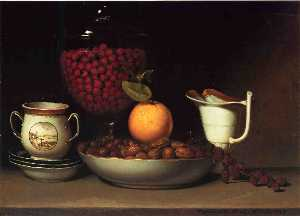 Still Life, Strawberries and Nuts