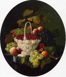 Still Life with Basket of Strawberries