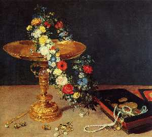 Still Life with Garland and Golden Tazza