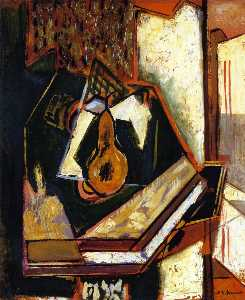 Still LIfe with Single Pear