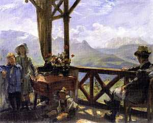 Terrace in Klobenstein, Tyrol