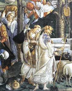 The Trials and Calling of Moses (detail 1) (Cappella Sistina, Vatican)