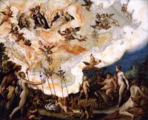 el triunfo de Cupido  asícomo  Baco