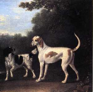 Two of the Duchess of Marlborough's Dogs