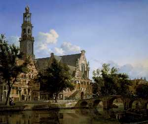 A View of the Keizersgracht and the Westerkerk in Amsterdam