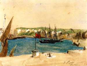 View of the Port of Dieppe