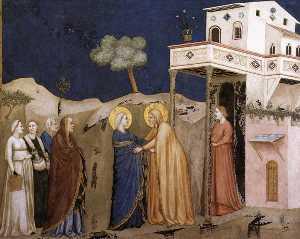 la visitazione ( Transetto settentrionale , bassa chiesa , san francesco , Assisi )