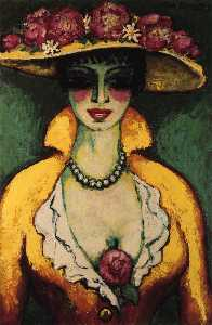 Woman with Flowered Hat