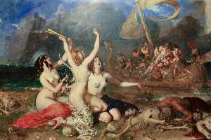 Las Sirenas asícomo  Ulises