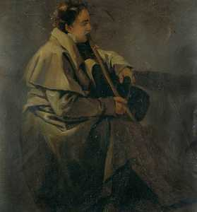Young Man In A Riding Cloak