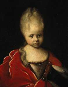 Portrait Of Grand Duchess Yelizaveta Petrovna As A Child