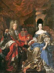 Double Portrait Of Johann Wilhelm Von Der Pfalz And Anna Maria Luisa De' Medici